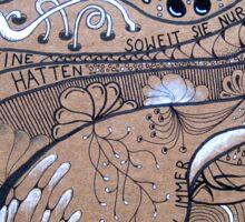 Kafka Zentangle - ALLEIN Sticker