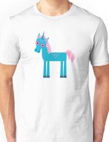 Cute unicorns on blue Unisex T-Shirt