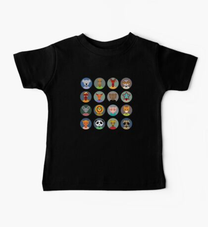 Animal faces 2 Baby Tee