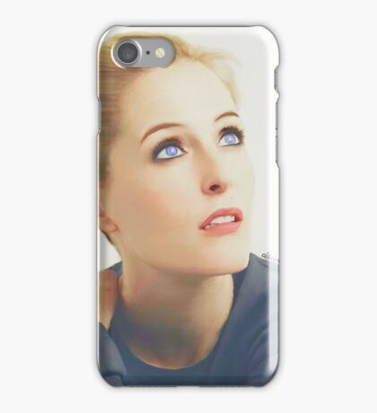 Gillian Anderson portrait iPhone Case/Skin