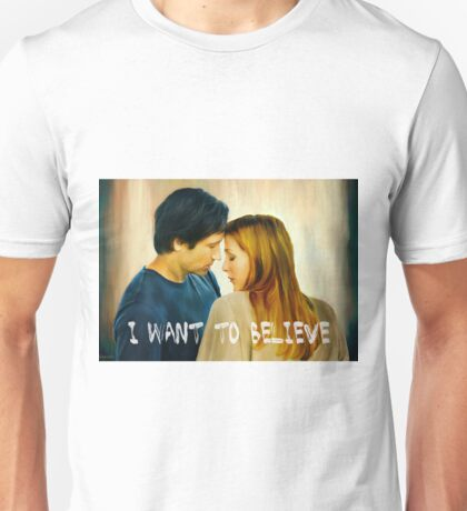 I Want To Believe oil color painting Unisex T-Shirt
