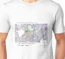 Multiple Deprivation Stoke Newington ward, Hackney Unisex T-Shirt