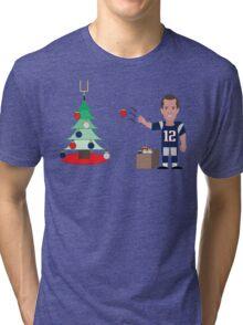 QB Christmas (Brady) Tri-blend T-Shirt