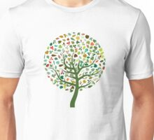 Autumn Leaves - Tree Hugger Design Unisex T-Shirt