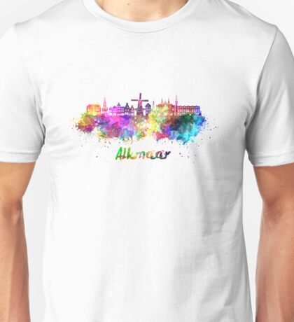 Alkmaar skyline in watercolor Unisex T-Shirt