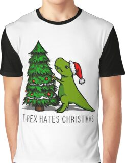 T-Rex Hates Christmas Graphic T-Shirt