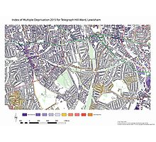 Multiple Deprivation Telegraph Hill ward, Lewisham Photographic Print