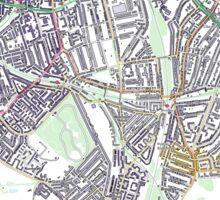 Multiple Deprivation Telegraph Hill ward, Lewisham Sticker