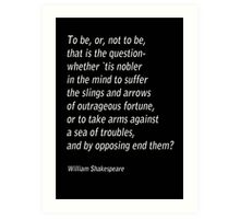William Shakespeare`s `Hamlet`  Art Print