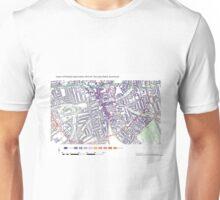 Multiple Deprivation The Lane ward, Southwark Unisex T-Shirt
