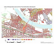 Multiple Deprivation Thamesfield ward, Wandsworth Photographic Print