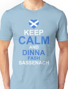 Keep Calm and Dinna Fash Outlander Shirt Unisex T-Shirt