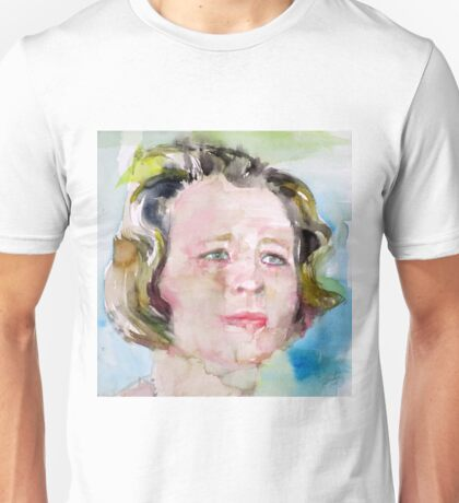 EDNA ST. VINCENT MILLAY - watercolor portrait Unisex T-Shirt