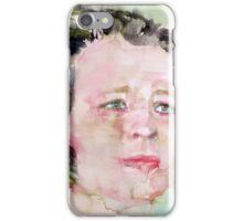 EDNA ST. VINCENT MILLAY - watercolor portrait iPhone Case/Skin