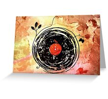 Enchanting Vinyl Records Vintage Greeting Card