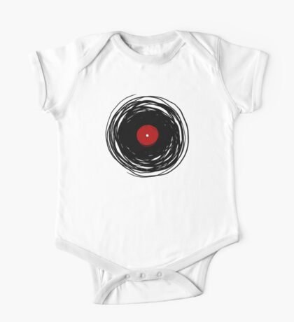 Spinning within with a vinyl record... One Piece - Short Sleeve