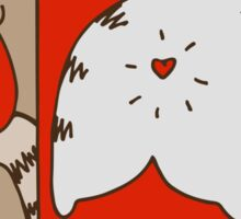 Mondrian's cat Sticker