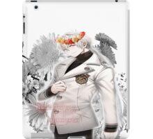Zen flower crown +quote blush face iPad Case/Skin