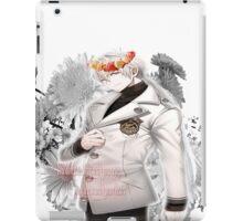Zen flower crown +quote blush fac iPad Case/Skin