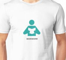 Bookworm enjoys a good book Unisex T-Shirt