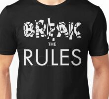 Break The Rules - White Unisex T-Shirt