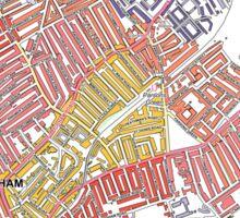 Multiple Deprivation Town ward, Hammersmith & Fulham Sticker