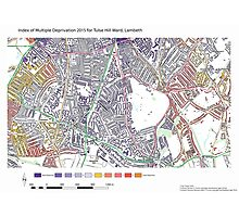 Multiple Deprivation Tulse Hill ward, Lambeth Photographic Print