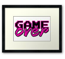 GAME OVER (Sexy) Framed Print