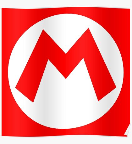 Mario Emblem (hollow) Poster