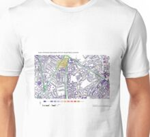 Multiple Deprivation Vassal ward, Lambeth Unisex T-Shirt