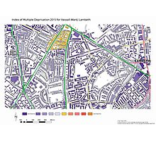 Multiple Deprivation Vassal ward, Lambeth Photographic Print
