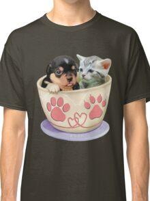 Puppy and Kitten Love Classic T-Shirt