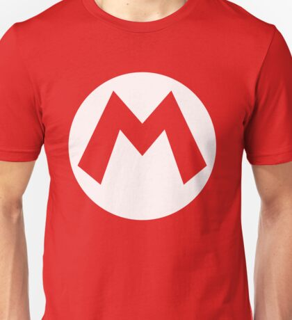 Mario Emblem (hollow) Unisex T-Shirt