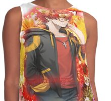 707 flower crown+quote blush vers Contrast Tank