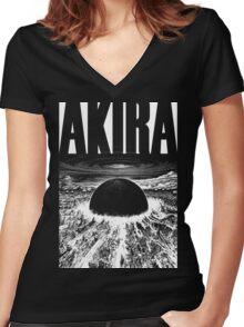 Akira Neo Tokyo - Black Ed. Women's Fitted V-Neck T-Shirt