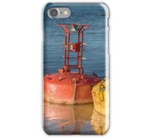 Two old sea buoys, red and yellow iPhone Case/Skin