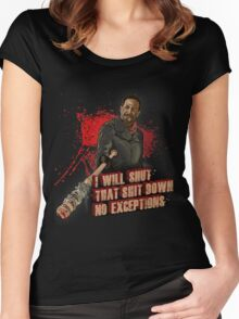 Negan Walking Dead Women's Fitted Scoop T-Shirt