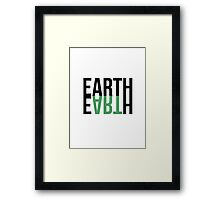 Earth, etc. Framed Print