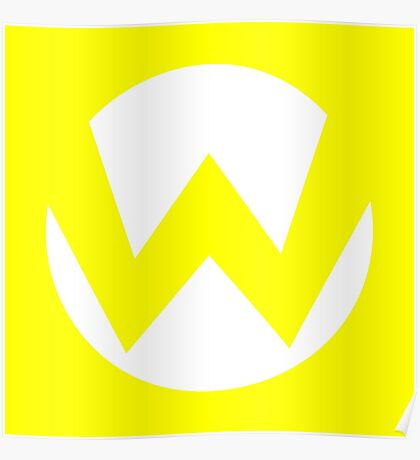 Wario Emblem (hollow) Poster