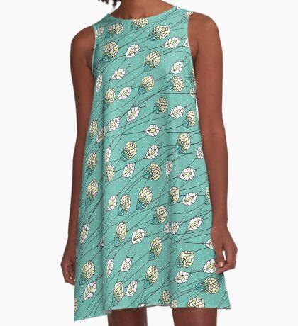 Windy Buds A-Line Dress