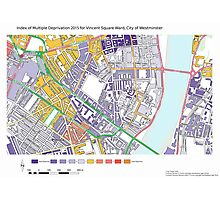 Multiple Deprivation Vincent Sq ward, Westminster Photographic Print
