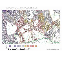 Multiple Deprivation Village ward, Southwark Photographic Print