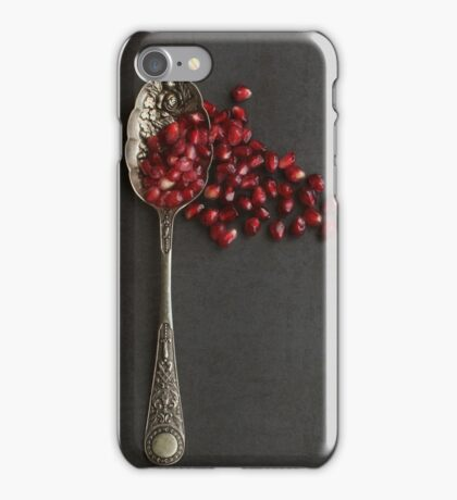 Silver Spoon and Pomegranate Seeds. iPhone Case/Skin