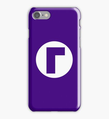 Waluigi Emblem (hollow) iPhone Case/Skin