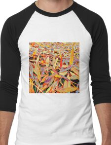 Autumn - Leaves - 1 - Fall Men's Baseball ¾ T-Shirt