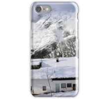 House under the mountain, Alps, Austria iPhone Case/Skin