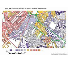 Multiple Deprivation Warwick ward, Westminster Photographic Print