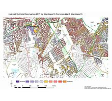Multiple Deprivation Wandsworth Common ward, Wandsworth Photographic Print