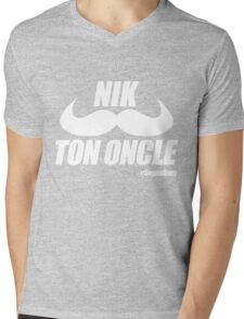 Nik Ton Oncle Version Blanche - Segpa Army Mens V-Neck T-Shirt