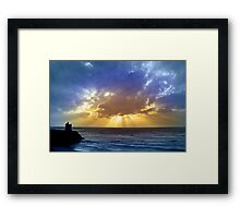 Castle and cloud beams Framed Print